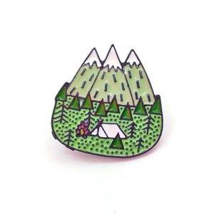 Camping Adventure Enamel Pin Badge
